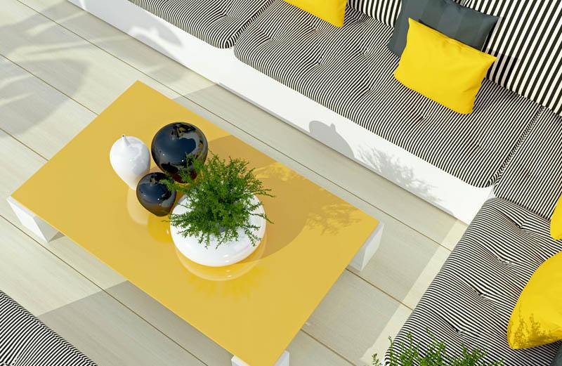tuinmeubel geel