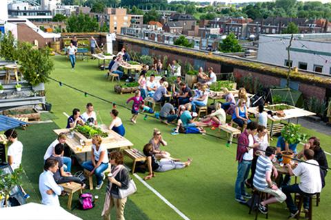 Roofgarden Arnhem terras