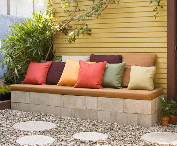 diy tuinbank beton