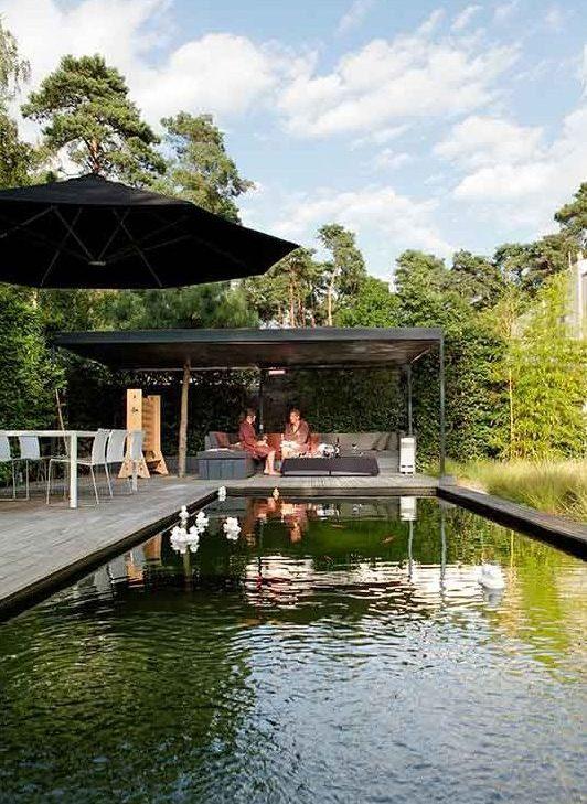 zwemvijver veranda