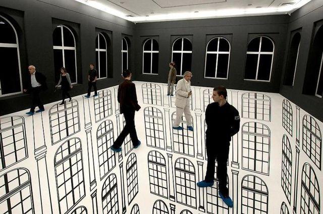 vloer illusie ramen