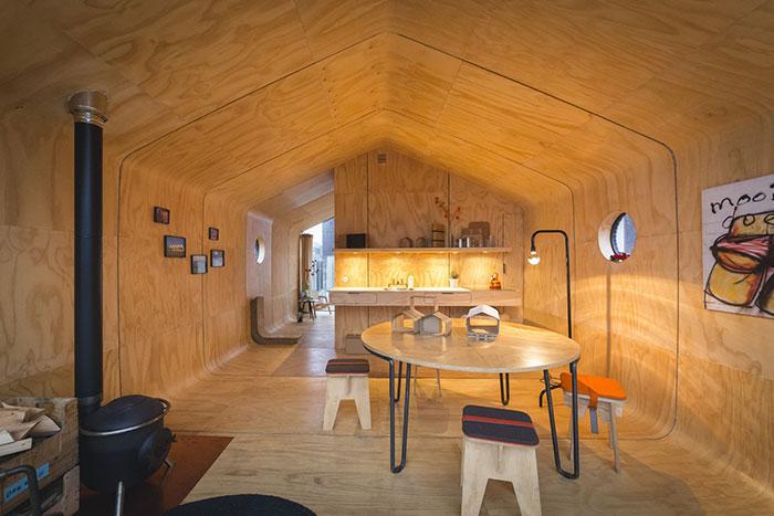Wikkelhouse interieur