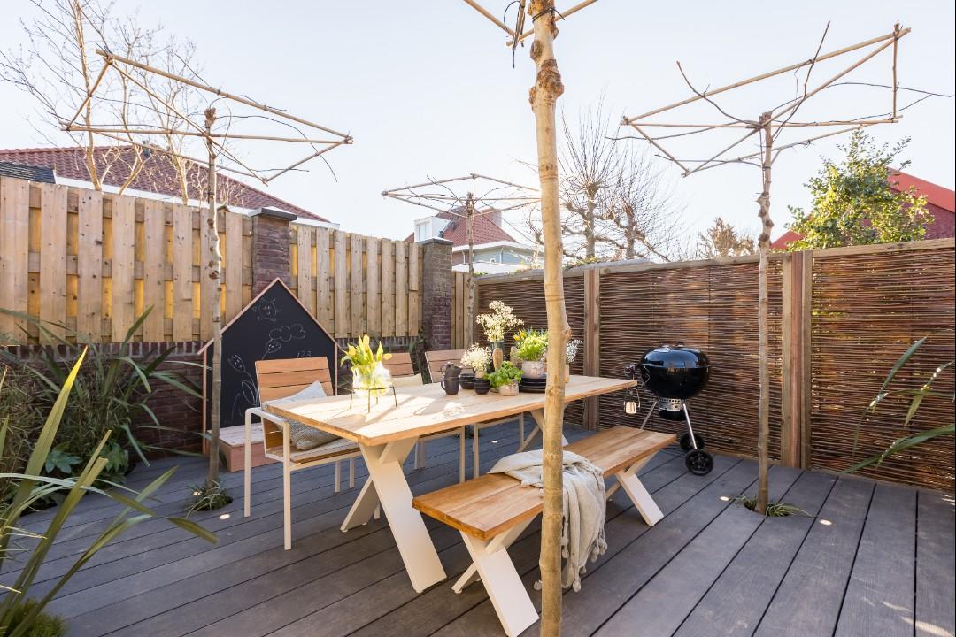 vlonder moderne tuin